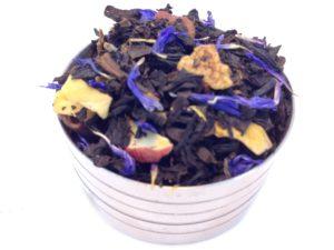 Herbata czarna Deszczowa Piosenka (śliwka, gruszka, jabłko, bławatek)