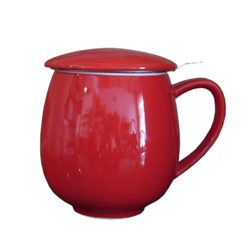Kubek z zaparzaczem + 50g wybranej herbaty W DREWNIE - PREZENT!
