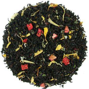 Herbata biała Truskawkowo-Śmietankowa (liść maliny, truskawka, słonecznik)