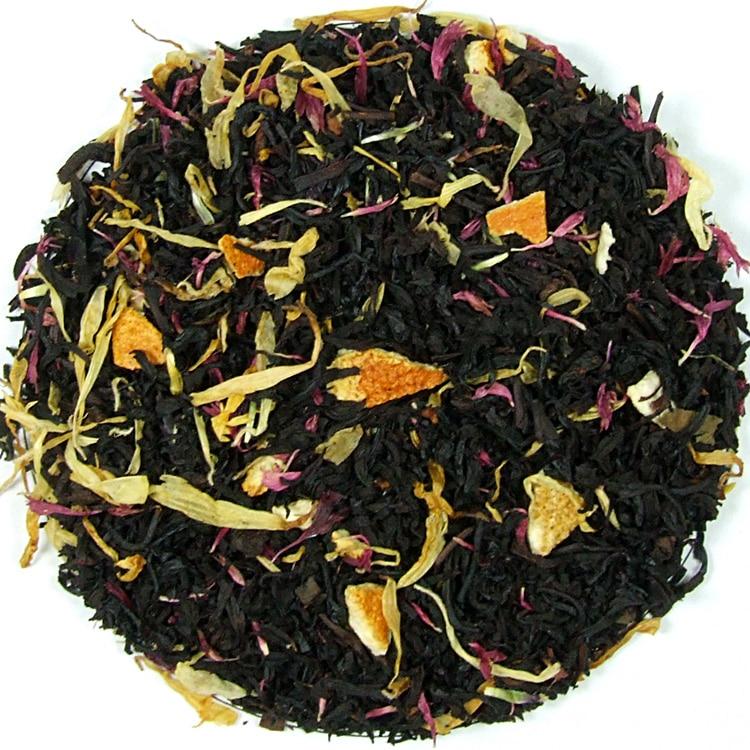 Herbata czarna Po Pasterce (dodatki: cynamon, skórka pomarańczy, nagietek, bławatek)