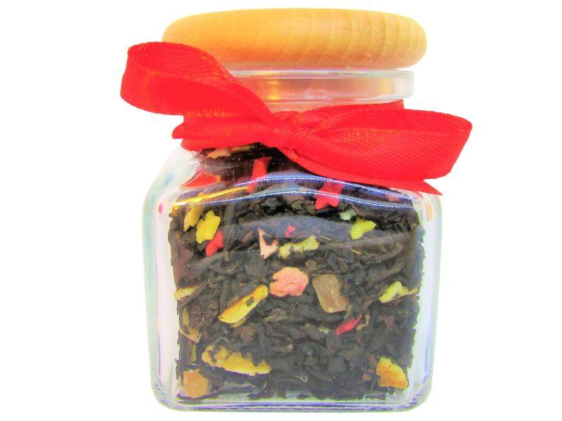 Zestaw prezentowy: 4 herbaty lub kawy + miód z owocami