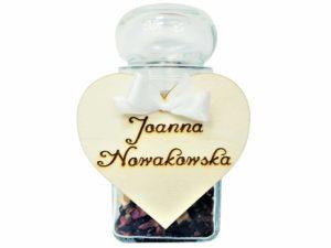 MINI prezent z GRAWEREM lub WINIETKA - słoiczek z herbatą