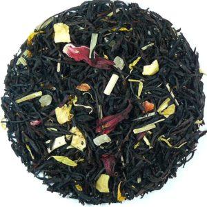 Herbata biała Lucky Luke (hibiskus, jabłko, ananas, trawa cytrynowa, słonecznik, marchew)