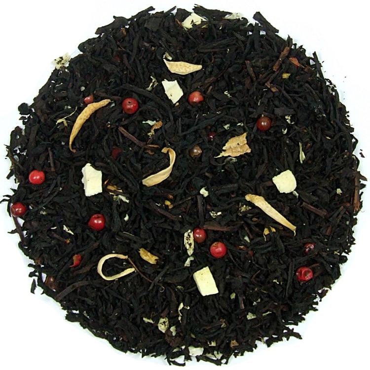 Herbata czarna Imbirowo-Pomarańczowa (dodatki: skórka pomarańczy, imbir, pieprz, kwiat pomarańczy)