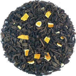 Herbata czarna Sklepy Cynamonowe (dodatki: rodzynki, goździk, skórka cytryny, migdały, kokos)