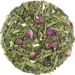 Herbata zielona Sakura (skórka róży, płatki róży, jaśmin, wiśnia)