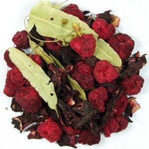 Herbata owocowa De Lite (malina, hibiskus, liść lipy)